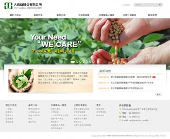 大統益股份有限公司 上市公司網站設計
